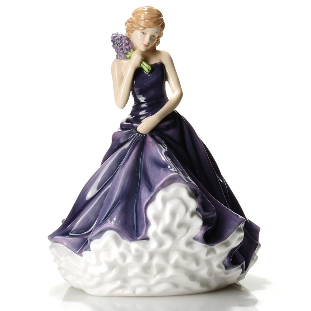 "436-228 - Royal Doulton® Flower of the Month 7"" Hand-Decorated Bone China Figurine"