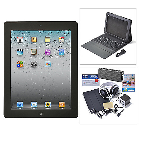 436-271 - Apple® iPad® 4th Gen 9.7'' Wi-Fi or Wi-Fi+4G Tablet w/ Accessories Kit