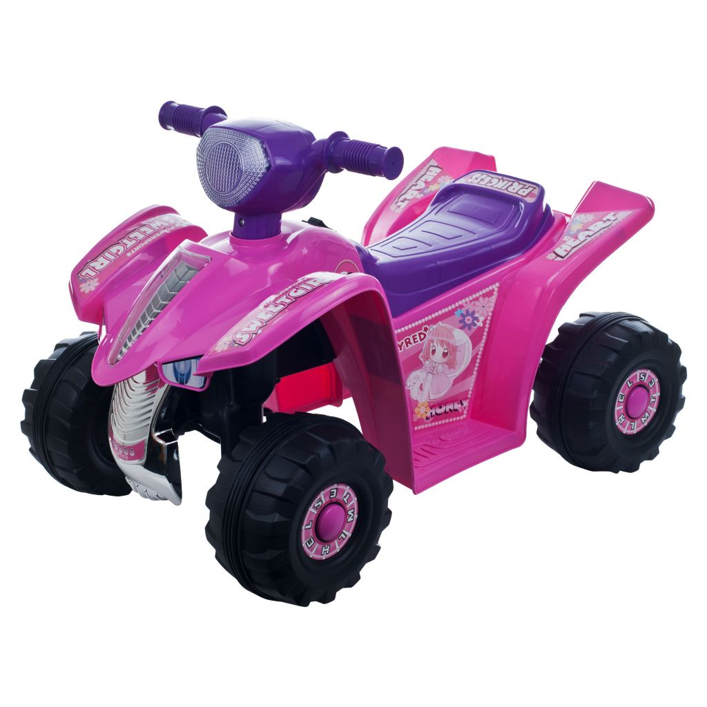 436-314 - Lil' Rider™ Pink Princess Mini Quad Ride-on Car Four Wheeler