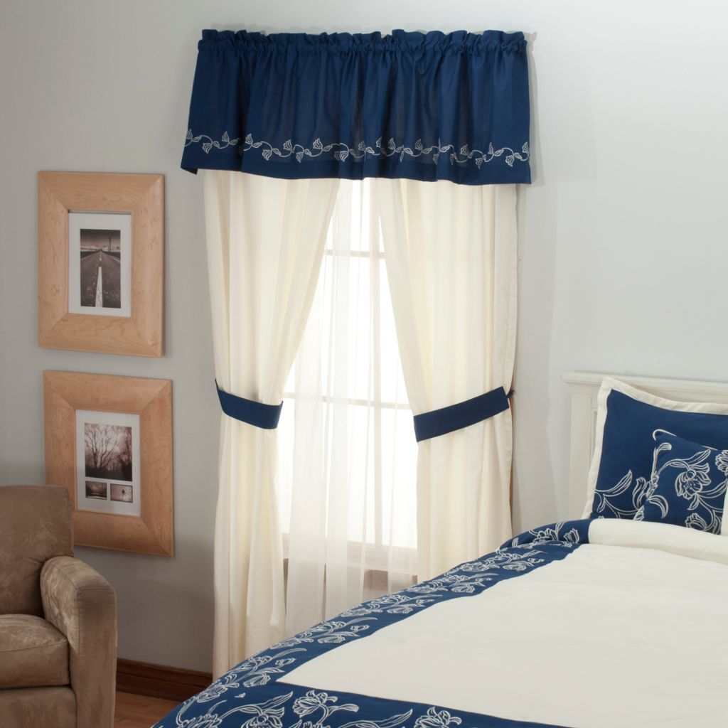 "436-347 - North Shore Linens™ ""Sarasota"" Five-Piece Window Set"