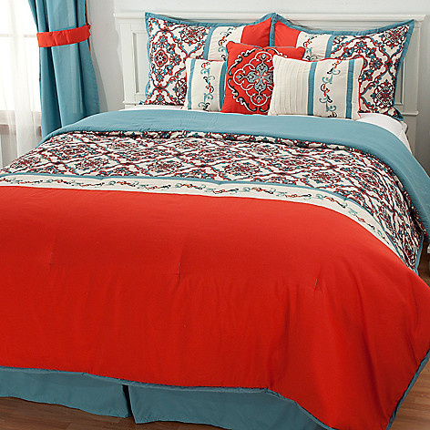 436-352 - North Shore Linens™ ''Callie'' Medallion Seven-Piece Bedding Ensemble