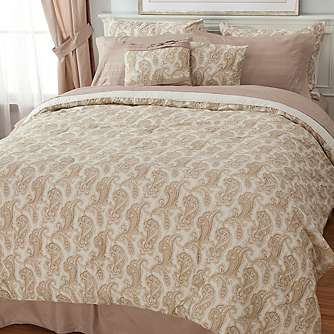 436-397 - North Shore Living™ Paisley Microfiber 10-Piece Sheet & Bedding Ensemble