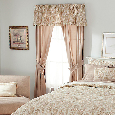 436-399 - North Shore Linens™ Paisley Microfiber Five-Piece Window Set