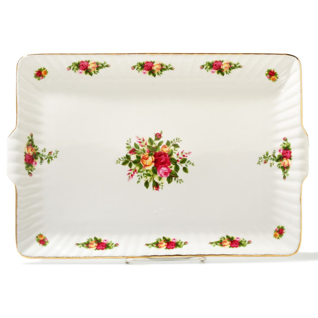 "436-424 - Royal Albert® Old Country Roses 13.5"" Porcelain Fluted Serving Tray"