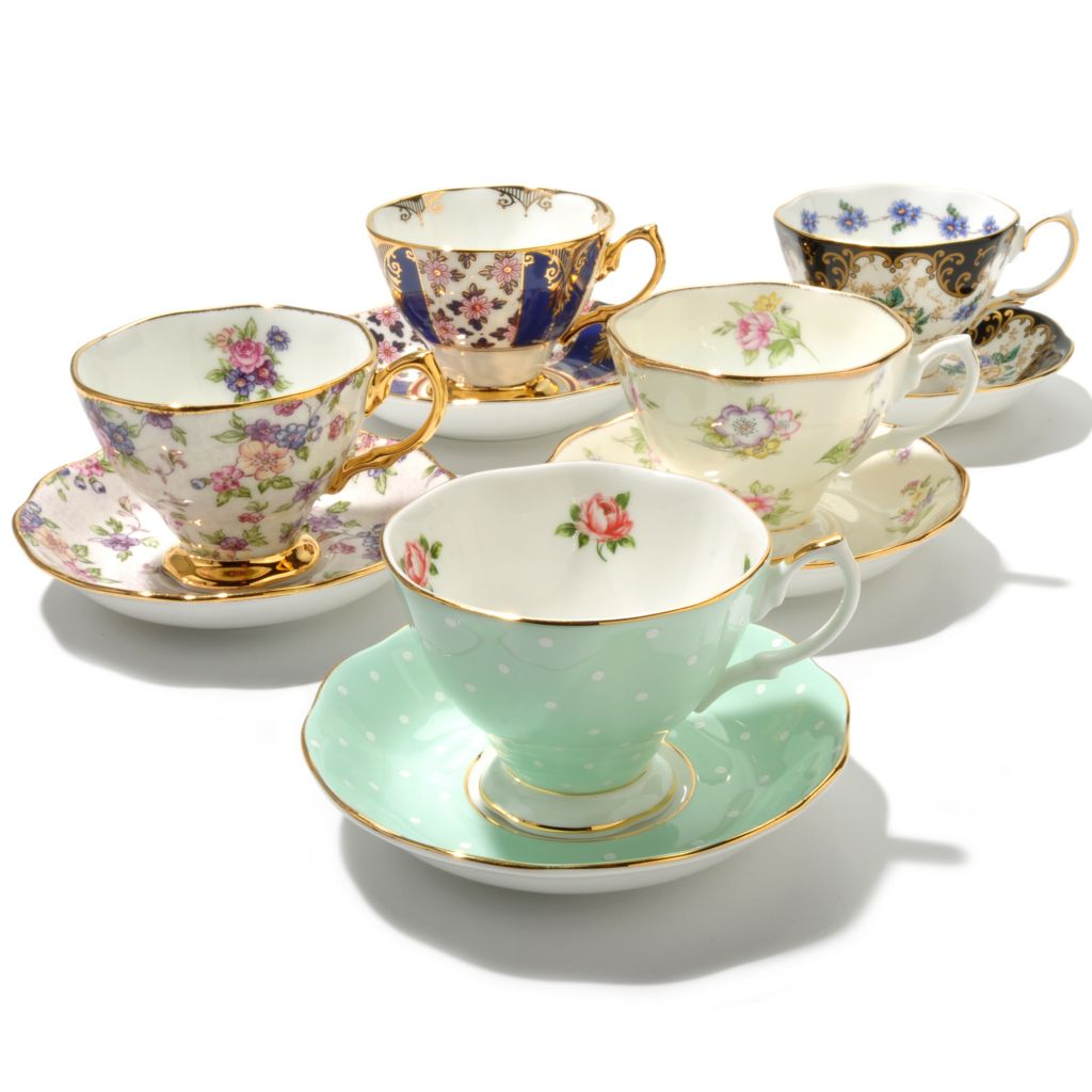 "436-426 - Royal Albert® ""100 Years"" Best-Selling 10-Piece Teacup & Saucer Set"
