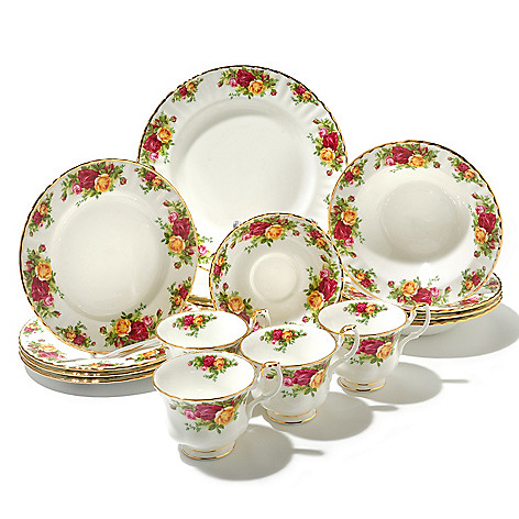 436-427 - Royal Albert® Old Country Roses 20-Piece Bone China Dinner Set