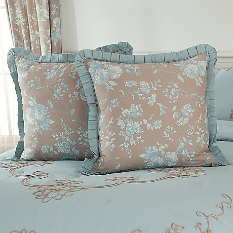436-543 - Lenox® Cotton Toile Embroidered Euro Sham Pair for Grand Suites®