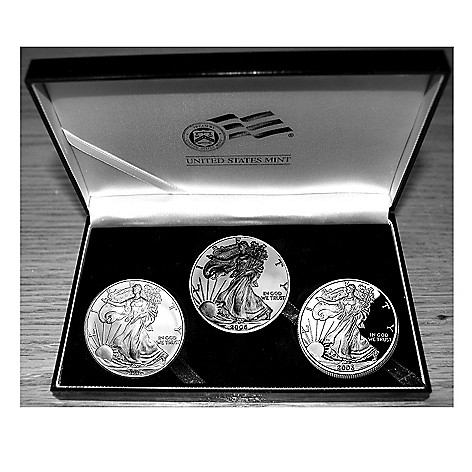 436-650 - 2006 Silver 20th Anniversary Set of Three American Eagle Coins