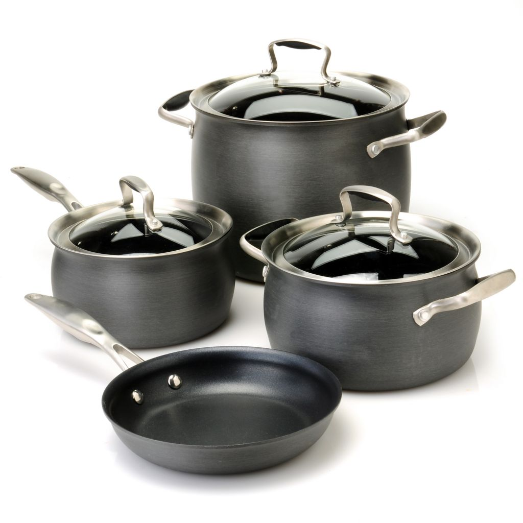 436-656 - Macy's Tools of the Trade® Belgique® Hard Anodized Seven-Piece Cookware Set