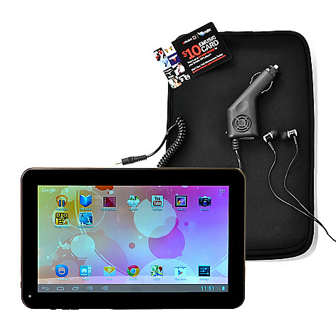 436-725 - Ematic 10'' LCD Android™ 4.1 4GB Wi-Fi Tablet w/ Google Play & Accessory Kit