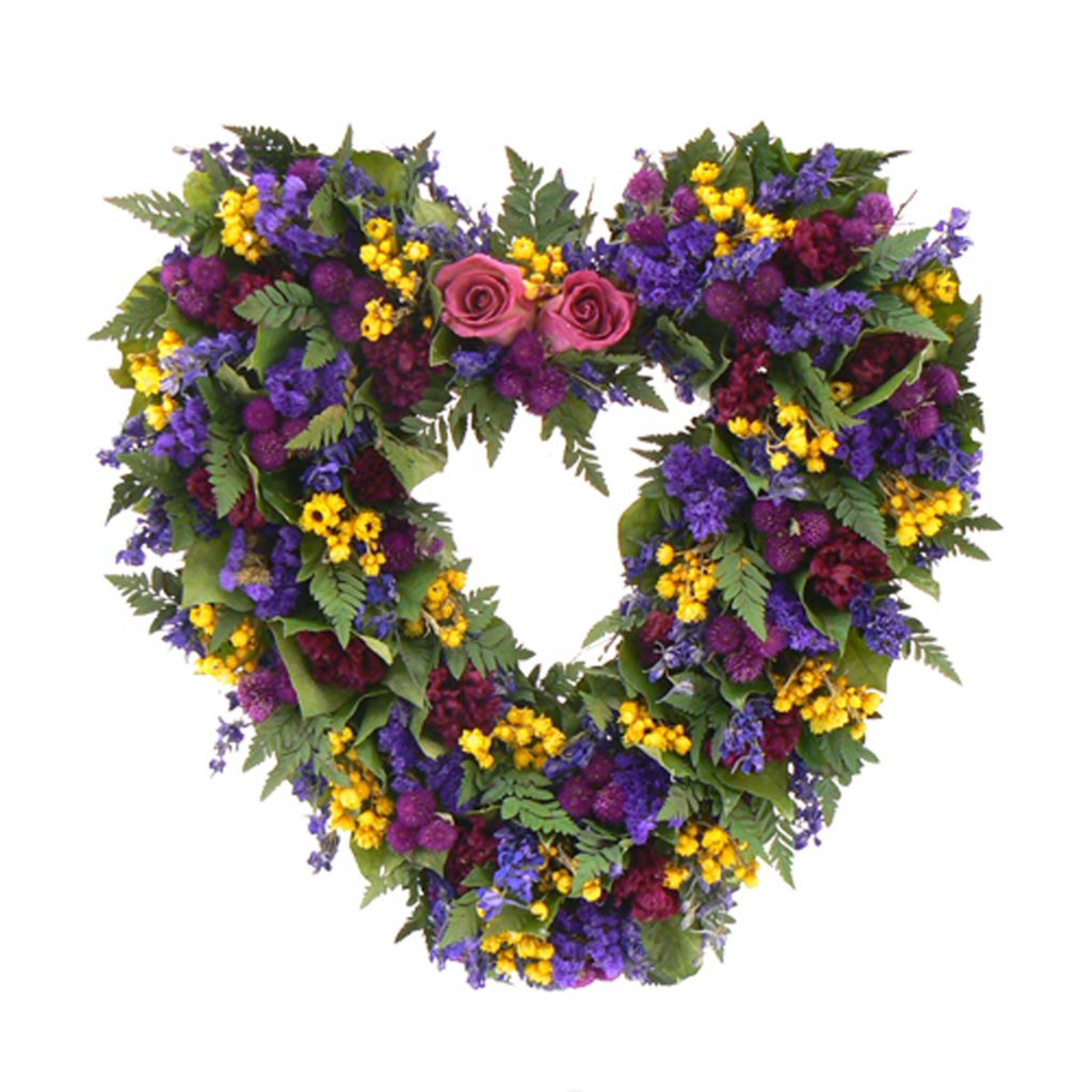"436-748 - Christmas Tree Company Loving Spring 17"" Dried Floral Heart Wreath"
