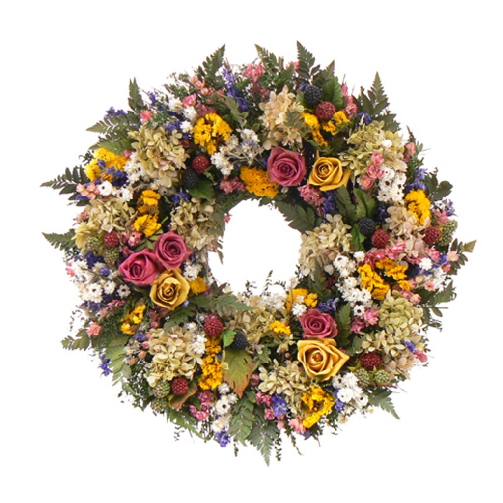 "436-751 - Christmas Tree Company Petals and Pomes 18"" Dried Floral Wreath"