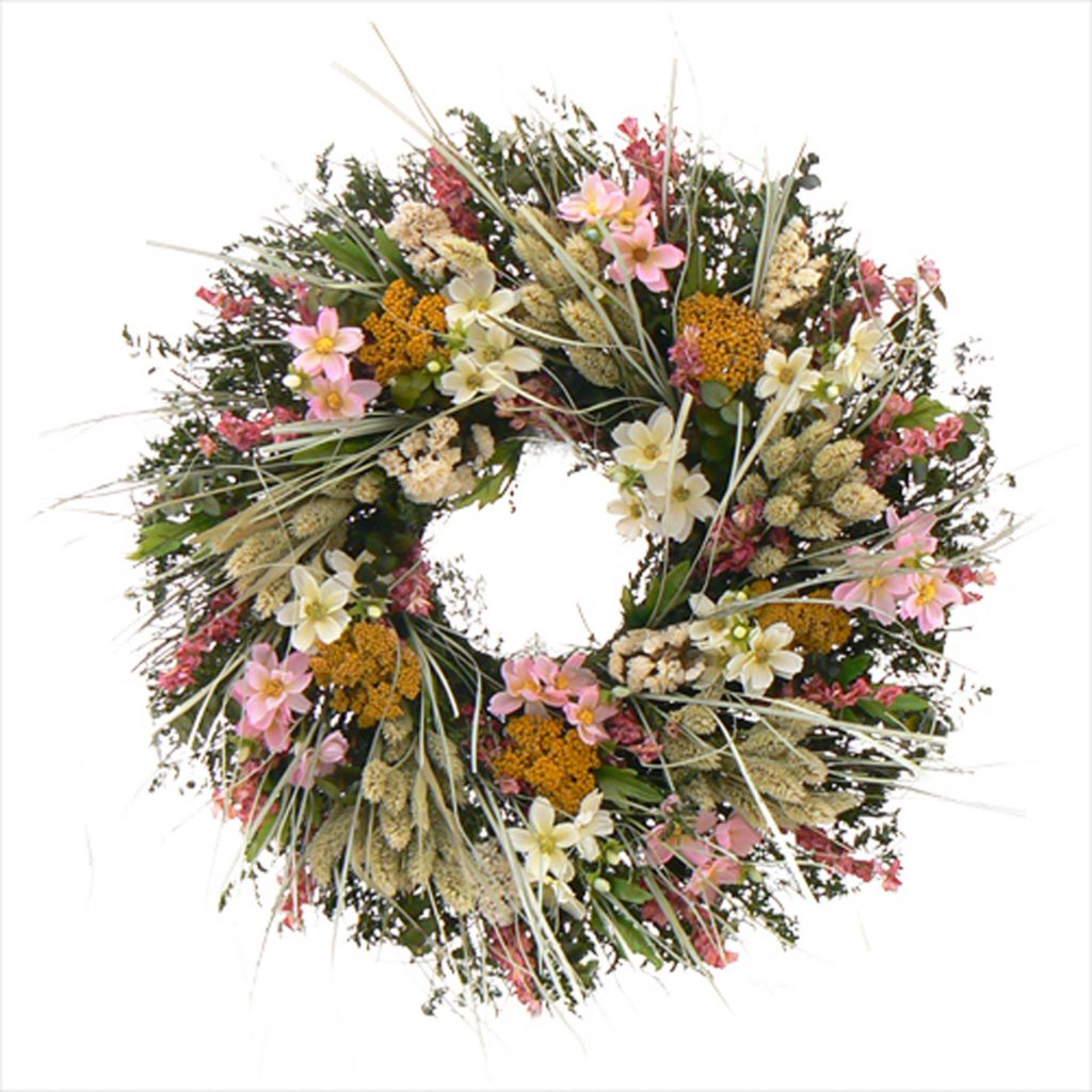 "436-752 - Christmas Tree Company Pocketful of Posies 18"" Dried Floral Wreath"