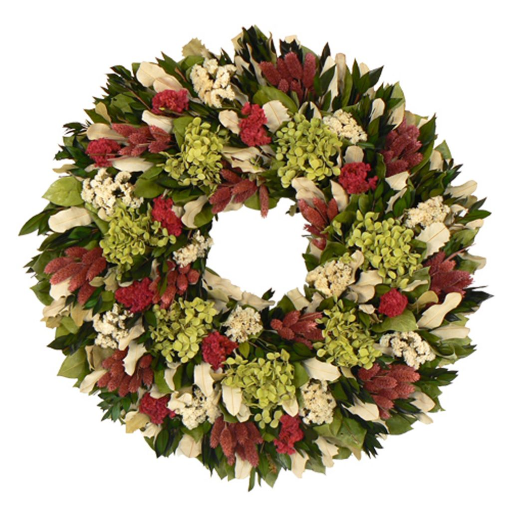 436-753 - Christmas Tree Company Ravishing Raspberry Dried Floral Wreath