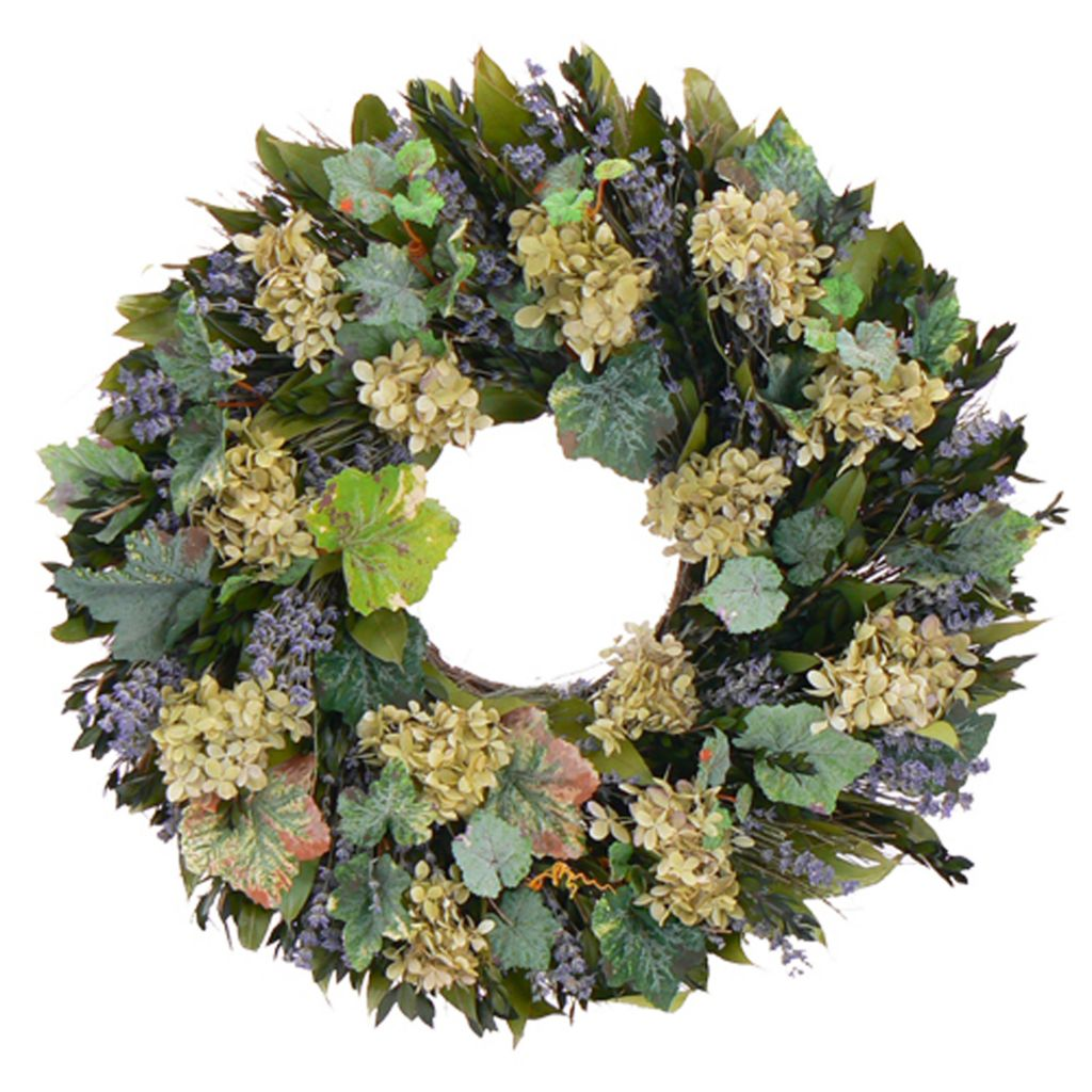 "436-757 - Christmas Tree Company Vineyard Dreams 22"" Dried Floral Wreath"