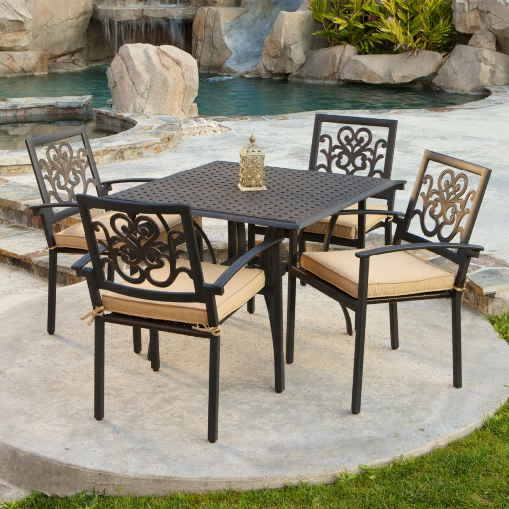 436-812 - RST™ Outdoor Delano 5-Piece Cast Aluminum Cafe Set