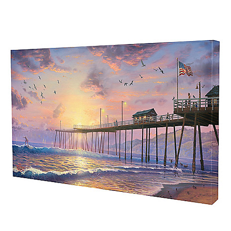 436-859 - Thomas Kinkade ''Footprints in the Sand'' Gallery Wrap