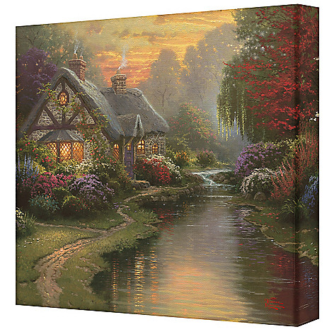 436-862 - Thomas Kinkade ''A Quiet Evening'' 14'' x 14'' Gallery Wrap