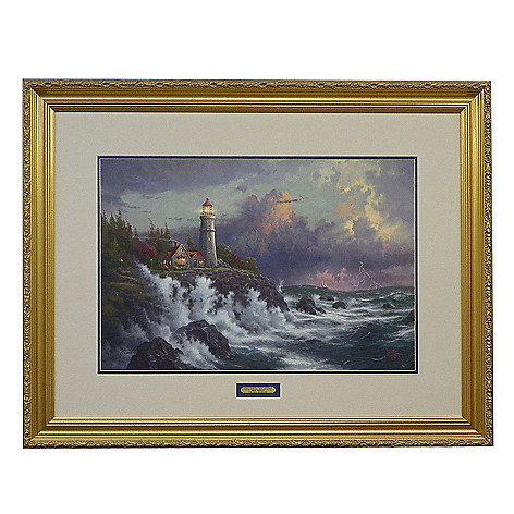 436-873 - Thomas Kinkade ''Conquering the Storms'' Limited Edition Framed Print