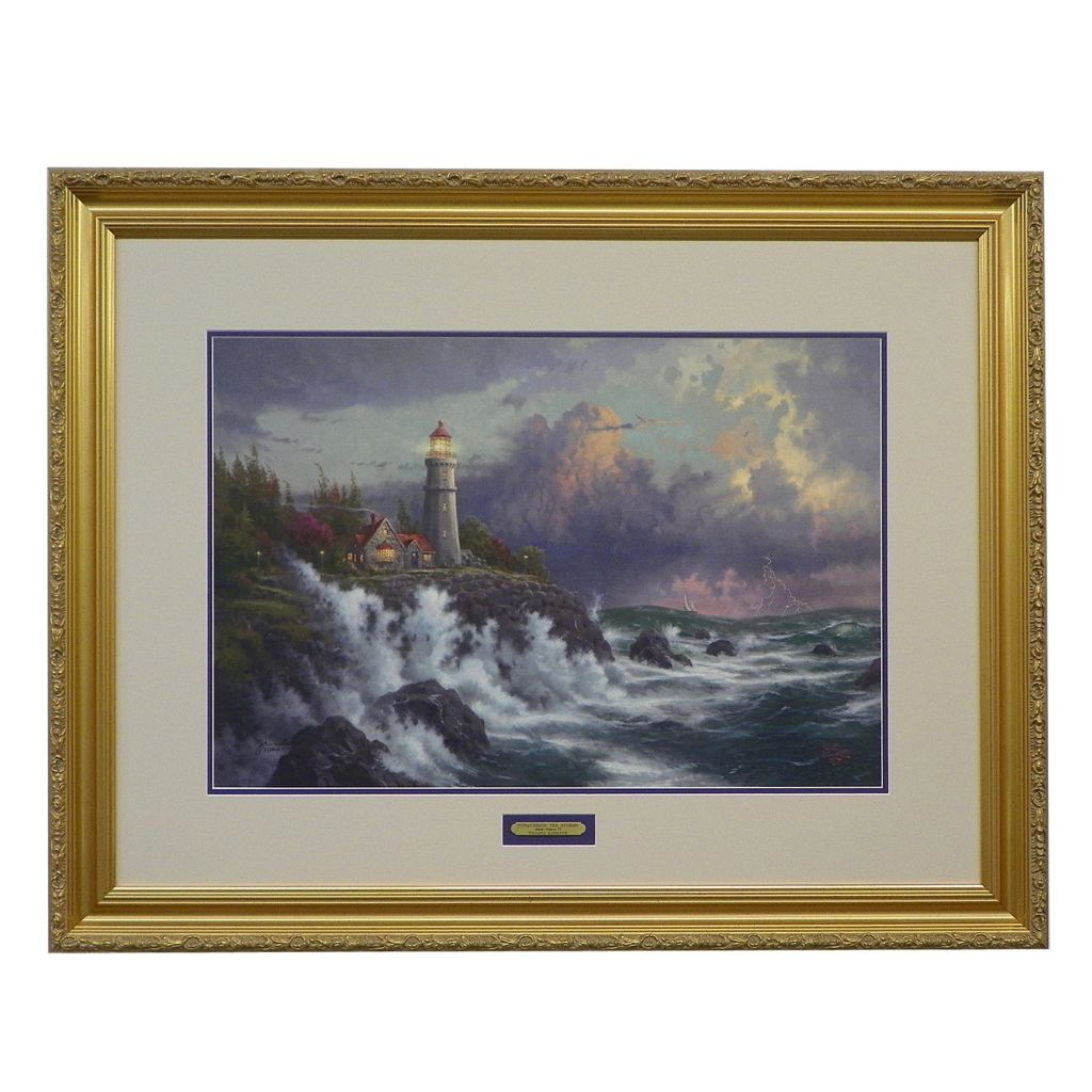 "436-873 - Thomas Kinkade ""Conquering the Storms"" Limited Edition Framed Print"