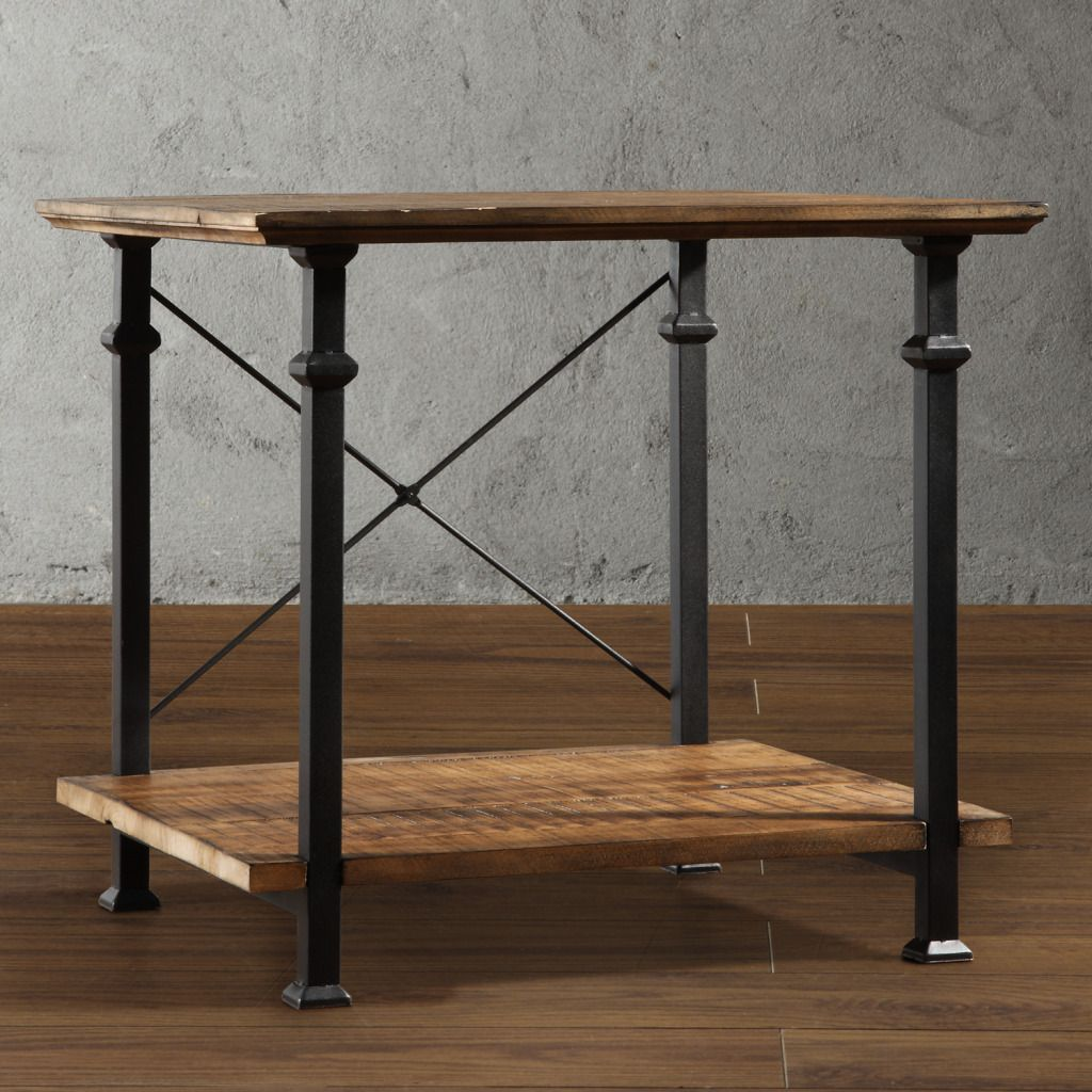 436-910 - Homebasica Rustic Inspired End Table