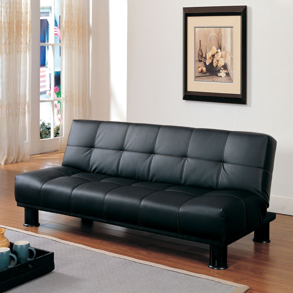 436-913 - Homebasica Black Futon Sofa