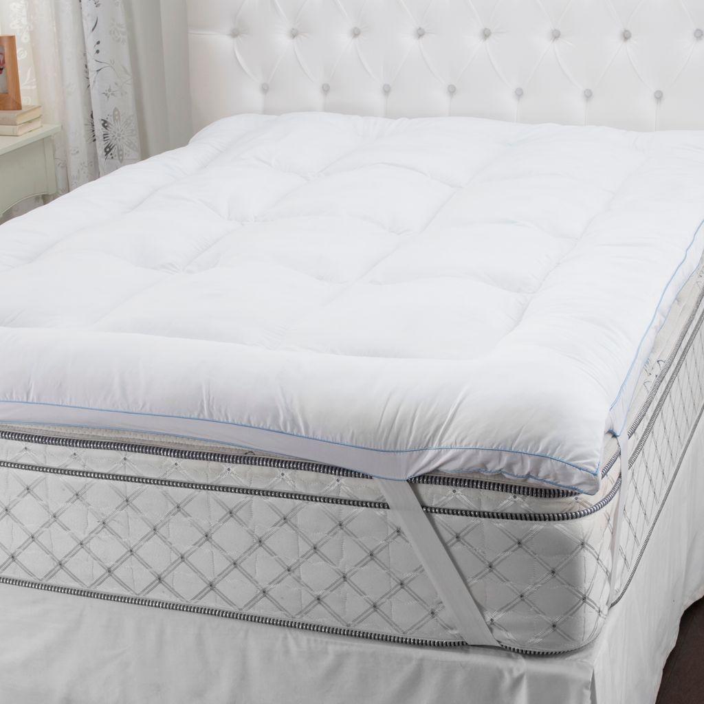 sensorpedic microfiber gel-fiber & memory foam mattress topper