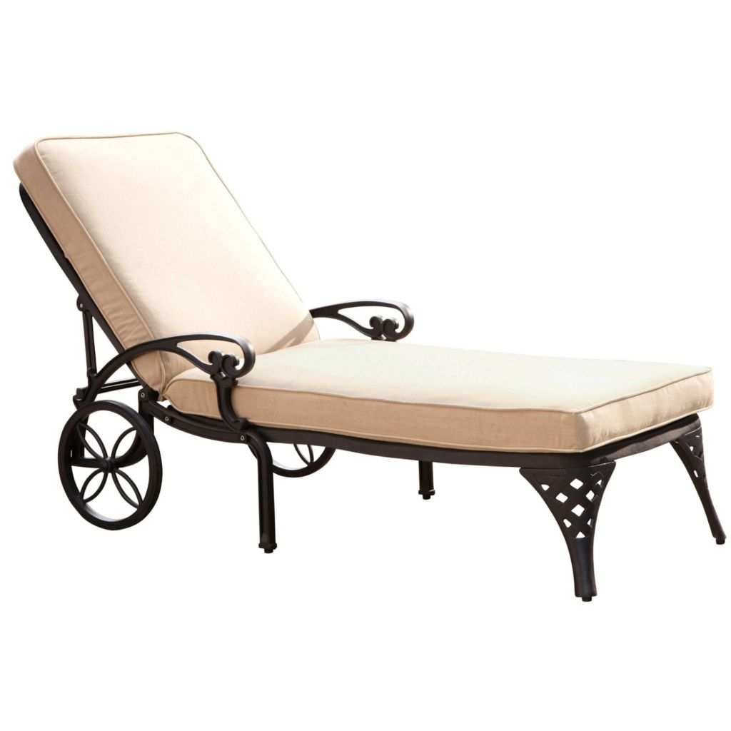 436-943 - Home Styles Biscayne Chaise Lounge Chair w/ Cushion