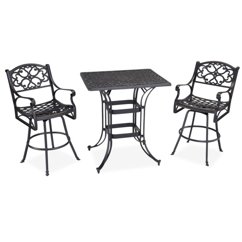 436-948 - Home Styles Biscayne Space Saving Rectangle Three-Piece Bistro Set