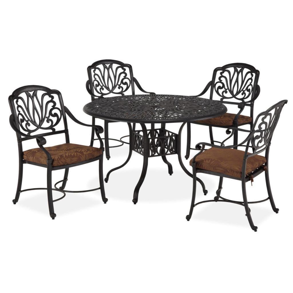 436-954 - Home Styles Floral Blossom Five-Piece Dining Set w/ Arm Chairs
