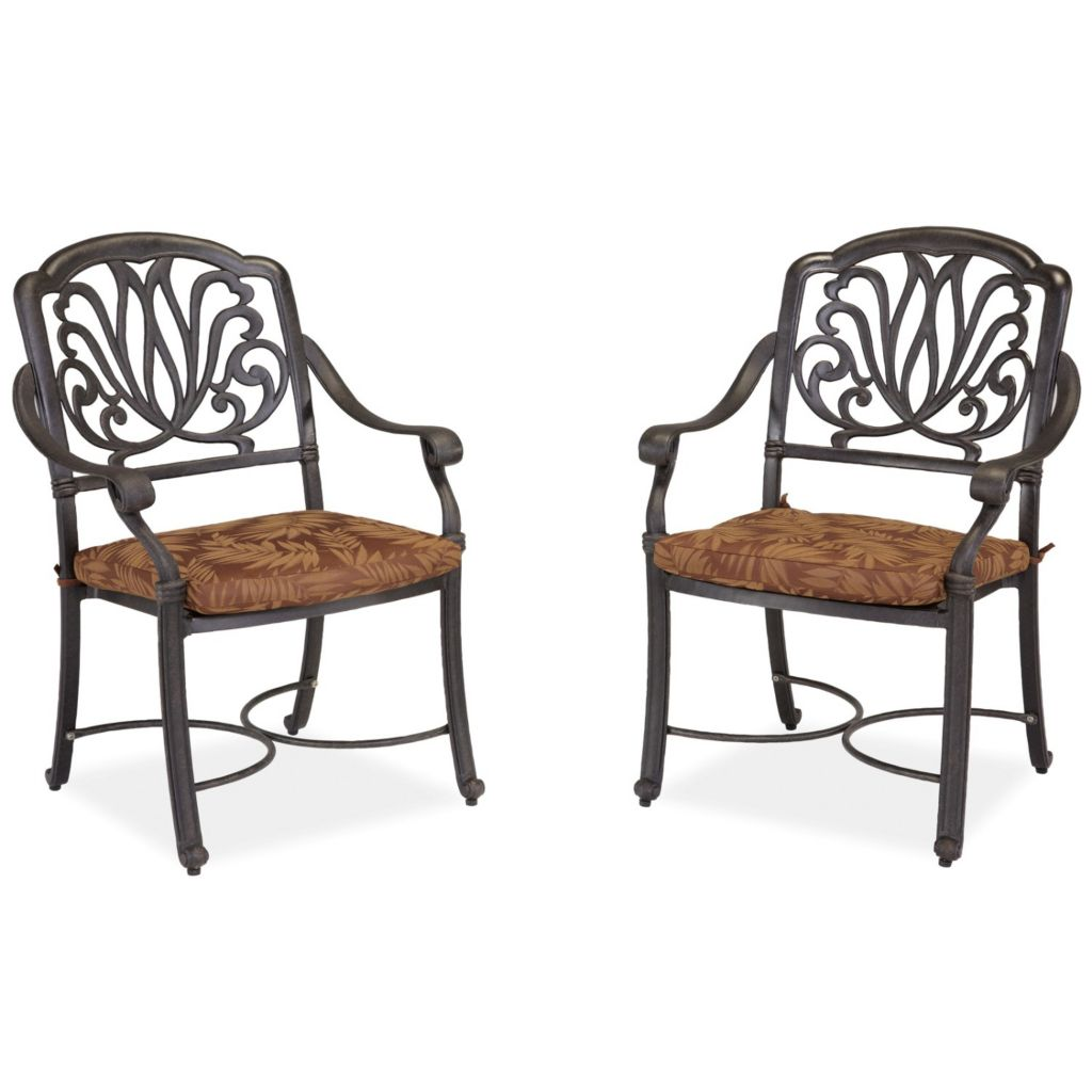 436-962 - Home Styles Floral Blossom Set of Two Arm Chairs w/ Cushions