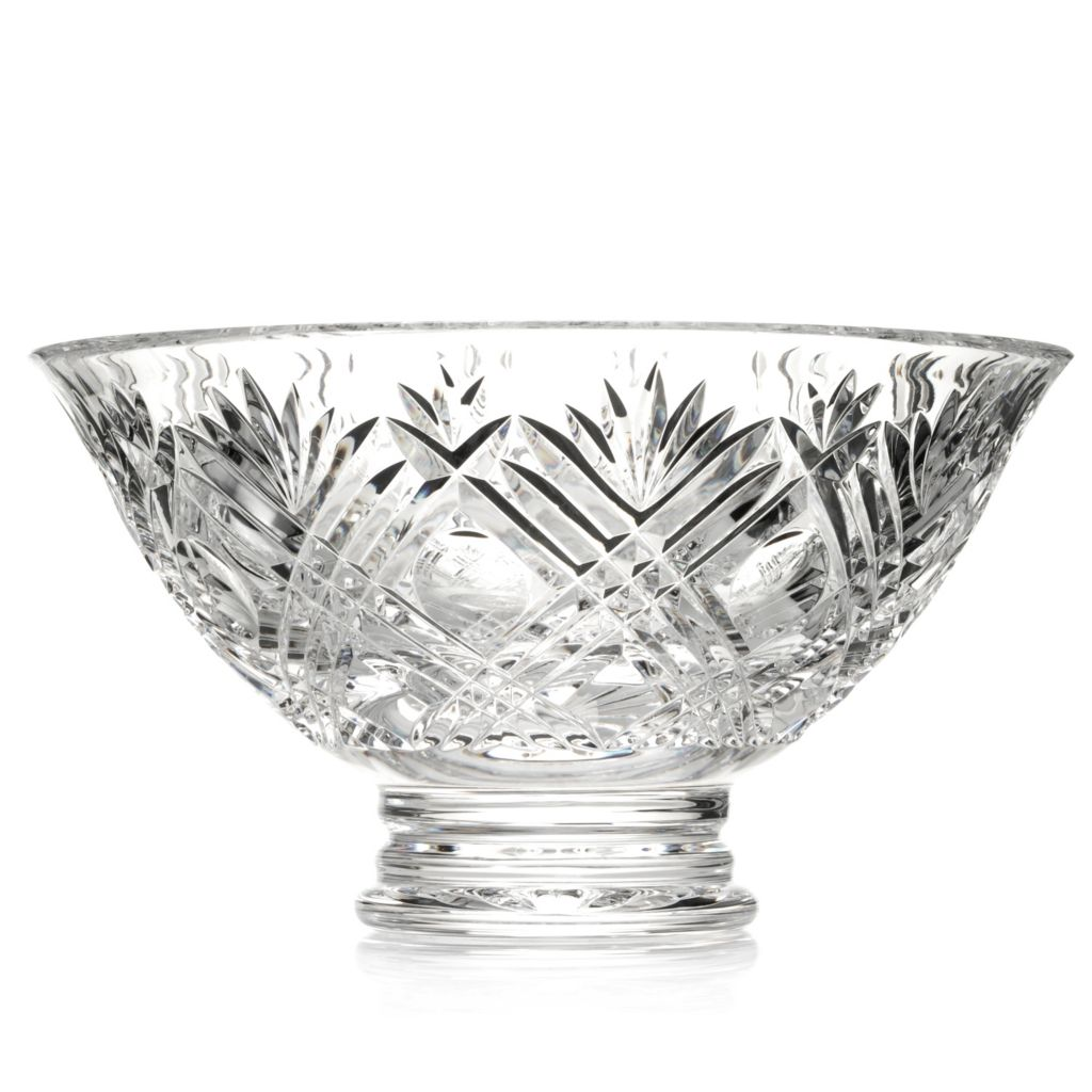 "436-998 - House of Waterford® City 10"" Crystal Bowl - Signed by Tom Brennan"