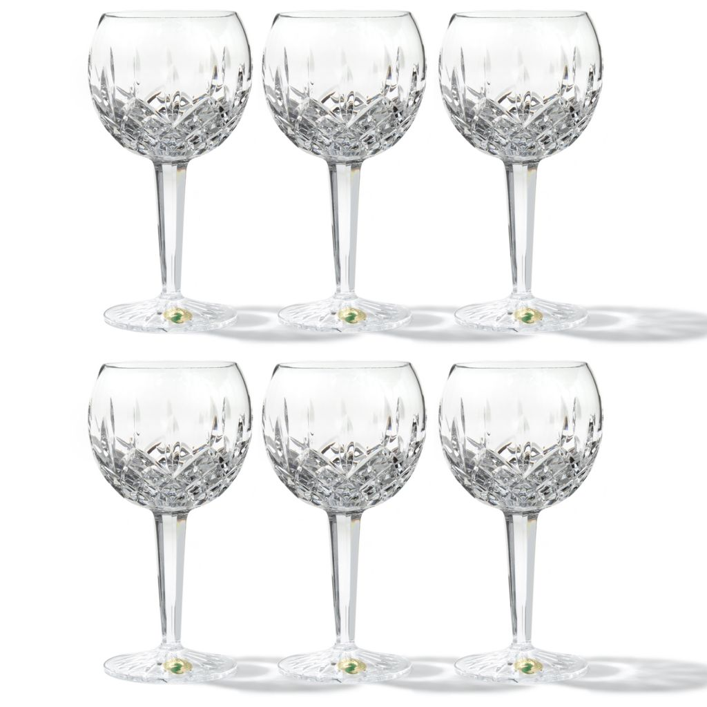 437-002 - Waterford® Crystal Lismore Set of Six 10 oz Balloon Wine Glasses