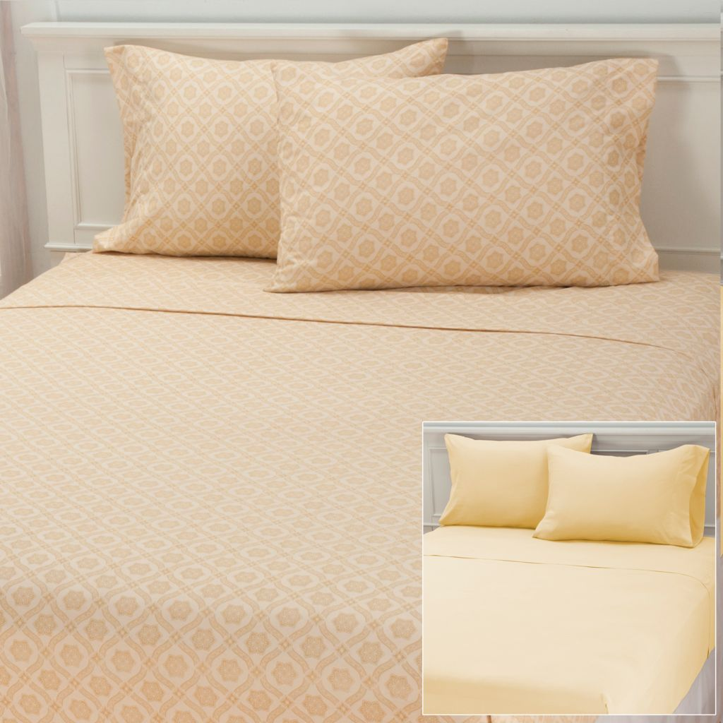 "437-065 - Cozelle® ""Larissa"" Set of Two Microfiber Four-Piece Sheet Sets"
