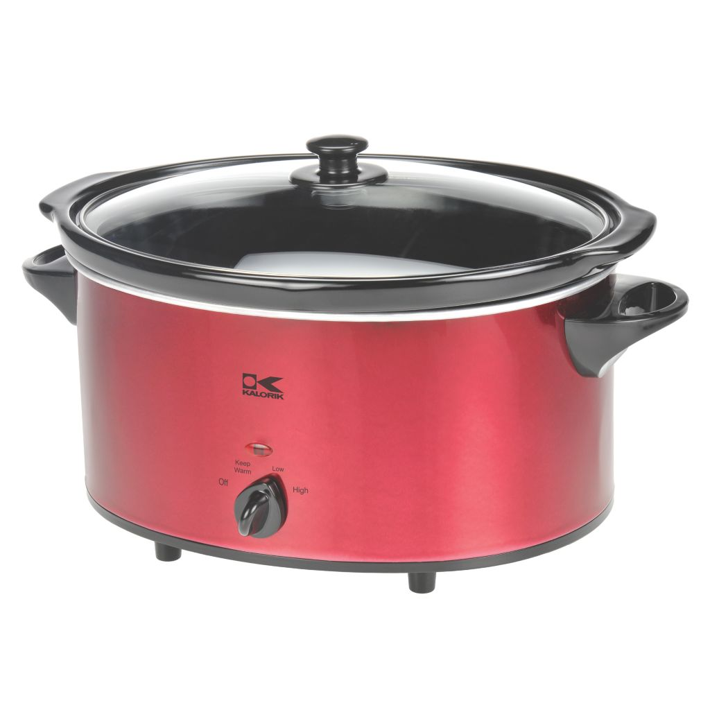 437-111 - Kalorik® 6 Quart Oval Slow Cooker