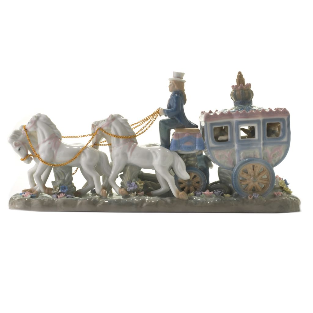 "437-134 - Sorelle® ""Off to the Ball"" Limited Edition 16"" Porcelain Carriage Figurine"