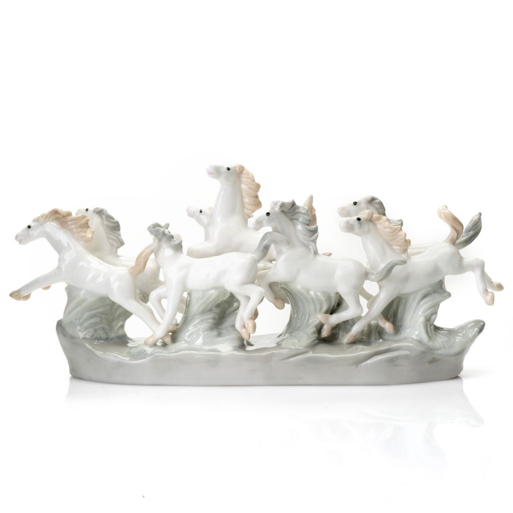 "437-144 - Sorelle® ""Spirit of the Wild"" 4.5"" Porcelain Horses Figurine"