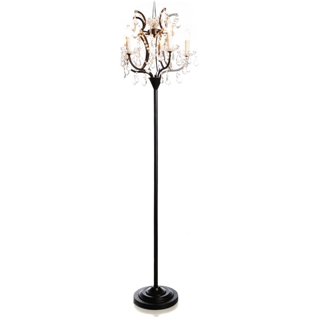 "437-174 - Style at Home with Margie 72"" Cascade Crystal Glass Floor Lamp"