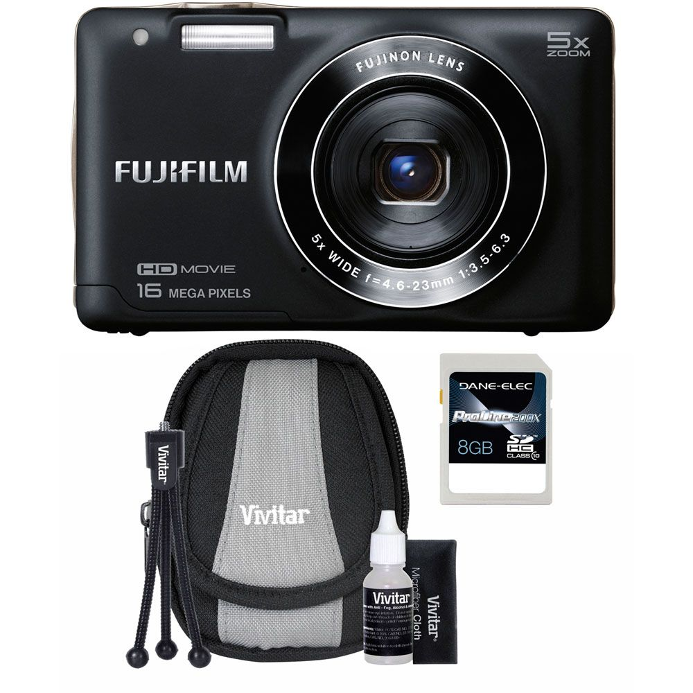 437-194 - Fujifilm FinePix 16MP Digital Camera Starter Kit w/ 8GB SDHC Card