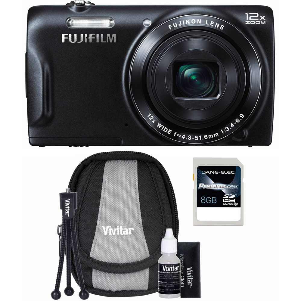 437-205 - Fujifilm FinePix T550 16MP Digital Camera Starter Kit w/ Case, Tripod and 8GB SDHC Card