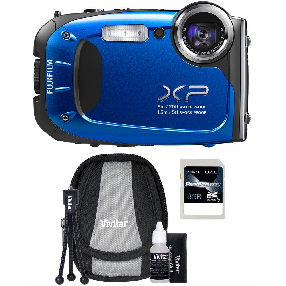 437-209 - Fujifilm FinePix XP60 16MP All-Weather Digital Camera Starter Kit w/ Case, Tripod and 8GB SDHC Card