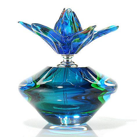 437-276 - Favrile 6'' Hand-Blown Art Glass Perfume Bottle