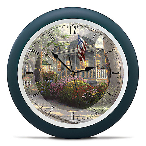 437-361 - Thomas Kinkade Hometown Series 13.5'' Wall Clock w/ Four Soothing Nature Sounds