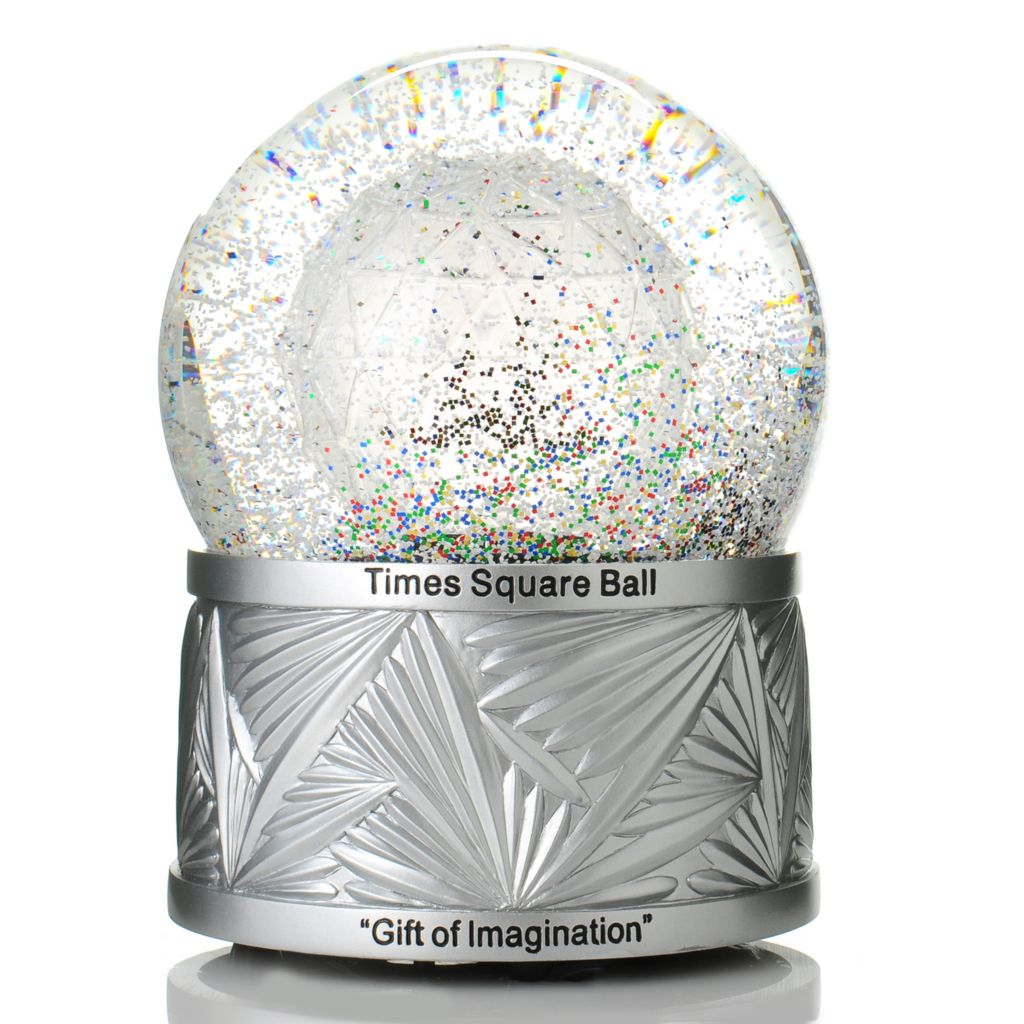 "437-366 - Waterford® Crystal Holiday Heirlooms 2014 Times Square Limited Edition 8"" Snowglobe"