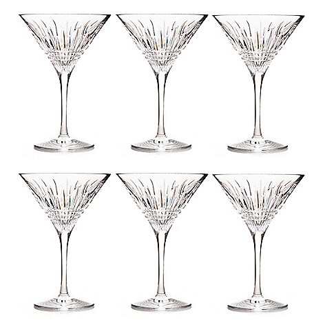 437-457 - Waterford® Crystal Lismore Diamond Set of Six 6 oz Martini Glasses