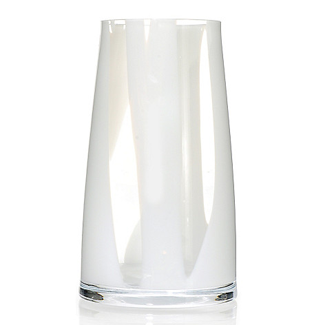 437-461 - Evolution™ by Waterford® Bianco 10'' Art Glass Angular Vase