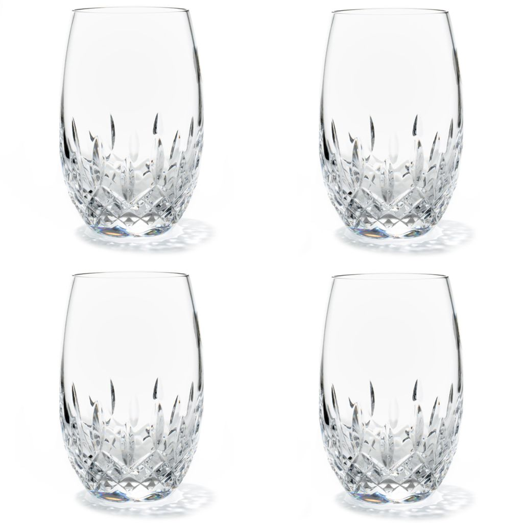 437-474 - Waterford® Crystal Lismore Nouveau Set of Four 12 oz Wine Glasses