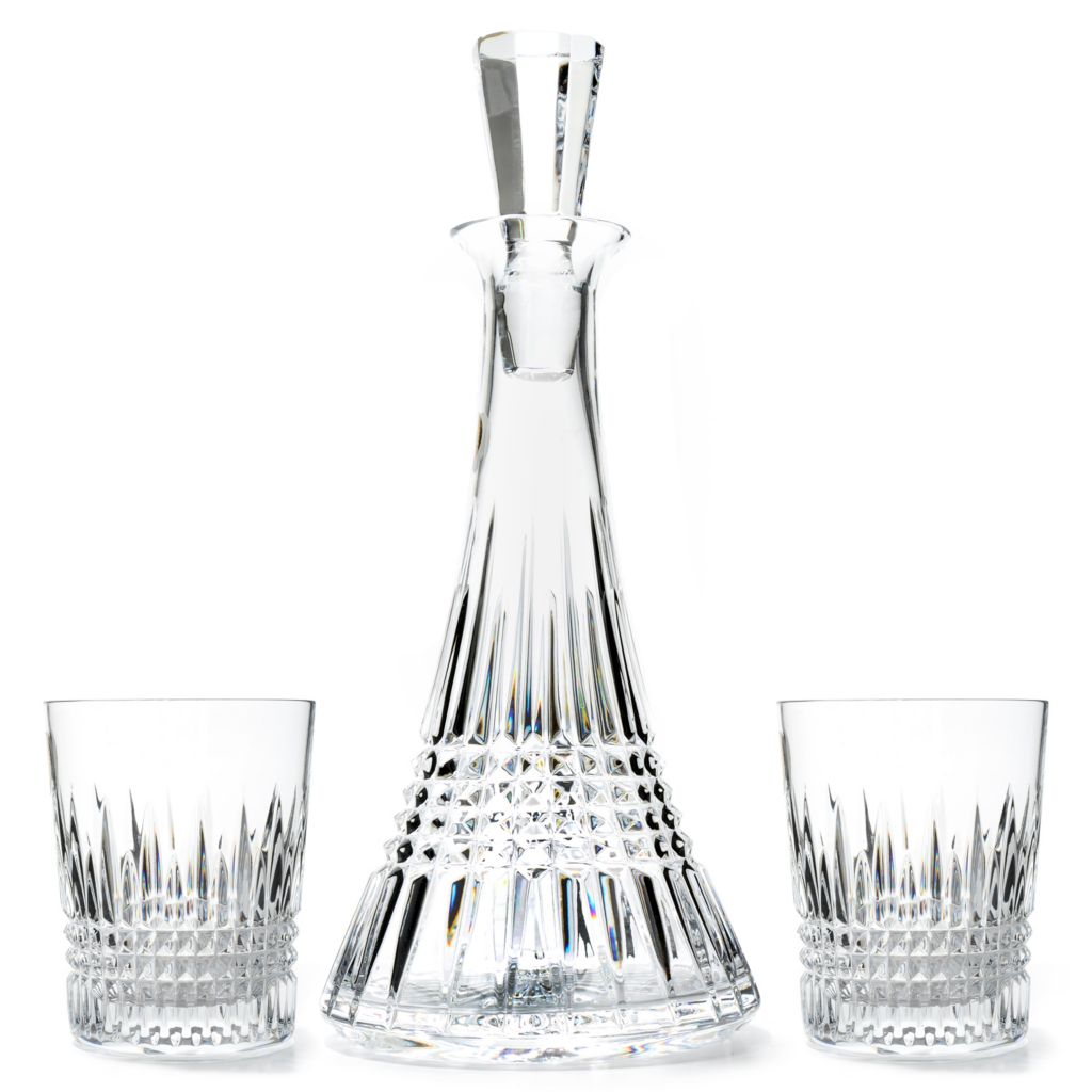 437-478 - Waterford® Crystal Lismore Diamond Three-Piece Decanter Set