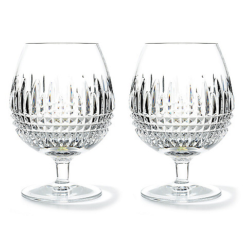 437-480 - Waterford® Crystal Lismore Diamond 16 oz Brandy Glass Pair