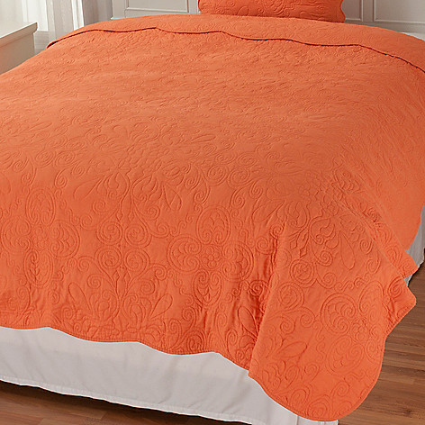 437-554 - North Shore Linens™ Medallion Embroidered Coverlet